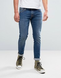 Nudie Jeans Co Long John Jean Television Blue Wash Television Blue