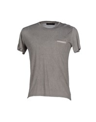 Vneck Topwear T Shirts Men Grey
