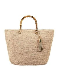 Heidi Klein Savannah Bay Medium Raffia Tote Bag Neutral