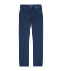 Corneliani Mid Wash Straight Jeans Male Blue