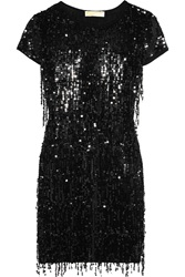 Michael Michael Kors Sequined Stretch Jersey Mini Dress