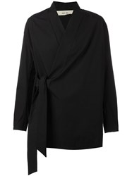 Damir Doma Belted Wrap Jacket Black