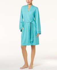 Charter Club French Terry Wrap Robe Only At Macy's Turquoise Heather