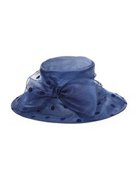 Giovannio Bow Accented Derby Hat Navy Blue