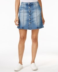 Calvin Klein Jeans Button Front Denim Skirt Authentic