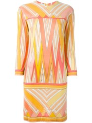 Emilio Pucci Vintage Abstract Print Dress Multicolour