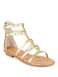 Seychelles Aim High Metallic Faux Leather Gladiator Sandals Gold