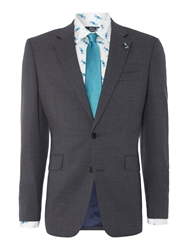 New And Lingwood Fern Fine Stripe Notch Lapel Suit Jacket Charcoal