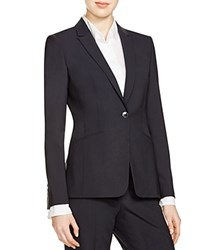 Boss Jabina Stretch Wool Blazer Open Blue