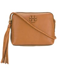 Tory Burch Embossed Logo Crossbody Bag Women Leather One Size Brown