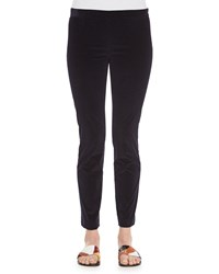 The Row Stretch Corduroy Cropped Leggings Navy Size 8
