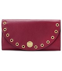 See By Chloe Kriss Embellished Leather Wallet Red