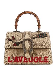 Gucci Dionysus Small Bamboo Handle Python Bag