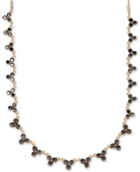 Lonna And Lilly Gold Tone Jet Crystal Collar Necklace