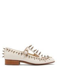 Gucci Marcel Studded Leather Loafers White