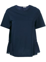 Moncler Silky Back Panel Top Blue
