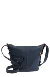 Marc Jacobs The Mini Sling Convertible Leather Hobo Blue Blue Sea