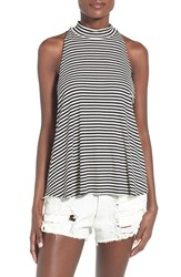 Women's Soprano Ribbed Mock Neck Swing Tank