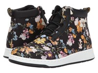 Dr. Martens Darcy Floral Telkes Boot Black Darcy Floral Fine Canvas Black Sport Spacer Mesh Women's Boots