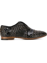 Raparo Woven Laceless Shoes Black