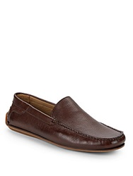 Saks Fifth Avenue Leather Penny Loafers Cafe