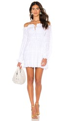 The Jetset Diaries Knockin On Heavens Door Mini Dress In White. Ivory