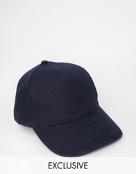 Reclaimed Vintage Baseball Cap Navy