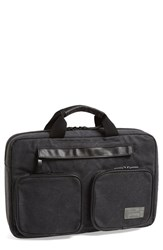 Hex Men's 'Supply' Convertible Briefcase Grey Charcoal Washed Canvas