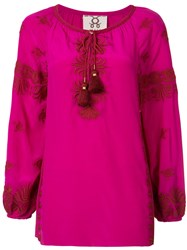 Figue Serena Kaftan Blouse Pink Purple