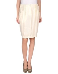 See By Chloe See By Chloe Knee Length Skirts Ivory
