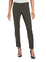 Saks Fifth Avenue Black Power Stretch Side Zip Pants Graphite
