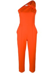 Msgm Bow Detail Jumpsuit Yellow Orange
