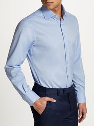 Smyth And Gibson Non Iron Micro Herringbone Twill Contemporary Fit Shirt Sky