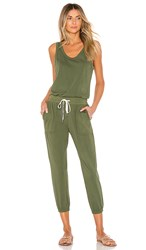 N Philanthropy Silver Jumpsuit In Army.