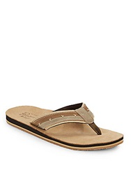 Original Penguin Split Stitched Thong Sandals Brown