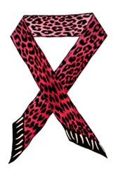 Rockins Leopard's Teeth Super Skinny Scarf In Animal Print Pink Animal Print Pink