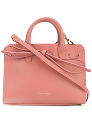 Mansur Gavriel Bow Detail Shoulder Bag Women Leather One Size Pink Purple