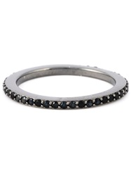 Apm Cubic Zirconia Eternity Band Ring Black