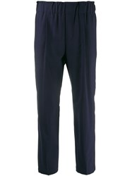 Brunello Cucinelli Cropped Trousers Blue