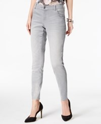 Inc International Concepts Embellished Skinny Jeans Created For Macy's Grey