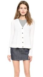 Minnie Rose Swing Cashmere Cardigan White