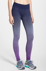 Brooks 'Streaker' Ombre Running Tights Currant Navy
