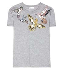 Red Valentino Printed Cotton T Shirt Grey