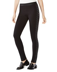 Bcbgmaxazria Jaims Lace Up Leggings Black