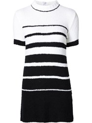 Unif Striped Knit Dress Black