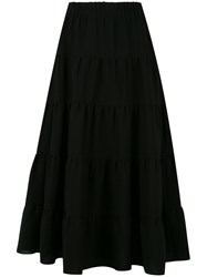 Sonia Rykiel Tiered A Line Skirt Black
