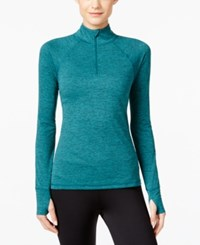 Ideology Rapidry Half Zip Performance Pullover Only At Macy's Moonlit Teal