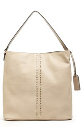 Sole Society Bayle Faux Leather Shoulder Bag Beige Vachetta