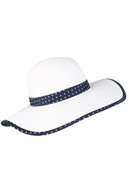 Dents Wide Brim Paperstraw Hat With Split Brim Multi Coloured
