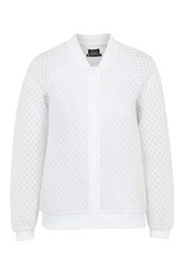 Hexagon Mesh Bomber Jacket By Ivy Park White